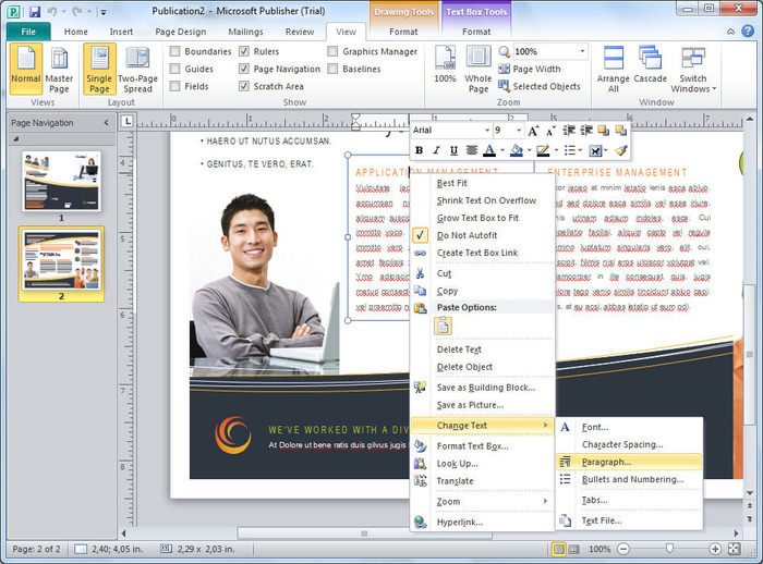 microsoft word publisher